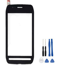 Original High Quality 3.5'' For Nokia 603 n603 Black Touch Screen Digitizer Sensor Front Glass Lens panel + tools