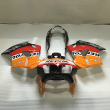 Custom Motorcycle Fairing kit for HONDA VFR800 98 99 00 01 VFR 800 1998 1999 2000 2001 red orange Fairings set +7 gifts HX10