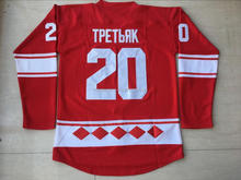 Viva Villa Stitched Hockey Jersey Tretiak CCCP 20 RUSSIA Red Ice Hockey Jersey Size S-3XL(China)