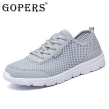 GOPERS 2017 new mens casual shoes mesh shoes for men shoes sport Breathable fashion summer Flats outdoor classic male shoes(China)