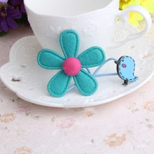 Sunflower And Bird Headwear scrunchy Girls Hair Accessories Hair Rope Elastic Hair Rubber Headwear Elastic Hair Band