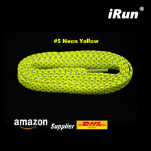 3M Neon Yellow Reflective Safety Flat Sneaker Lace ( Style C) - Light Visible Reflective Flat Shoelace Laces - DHL FREE SHIPPING(China)
