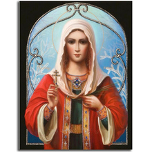 Our Lady Diamond embroidery Orthodox Church Diy Kit Needlework Mosaic Crystal Picture Of Rhinestones Cross-Stitch Kit Decoration(China)