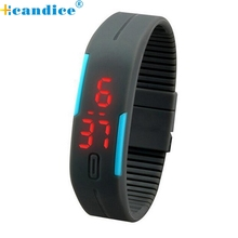 reloj  2017 Paradise Fashionable  New Ultra Thin Men Girl Sports Silicone Digital LED Sports Wrist Watch wholesale  Sep21