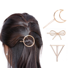 1Pc Triangle Moon HairPins Clamp Ornaments Jewelry Lip Headwear Girls' Hair Clip For Party(China)