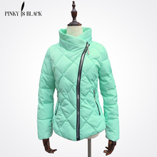 Pinky Is Black spring and winter jacket women cotton-padded jacket parka female wadded jacket short women winter coat outerwear(China)