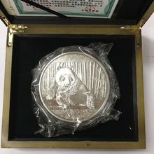 2015 Chinese panda commemorative silver coin 1kg with COA and box for collection(China)
