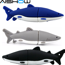Pen drive USB Flash Drive 8GB Silicone shark shape Pendrive USB 2.0 Memory stick U Disk flash card 16-518(China)