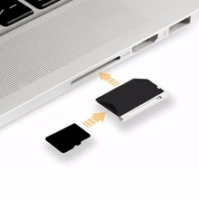"New Aluminum Micro SD TF T-Flash Memory Card Reader Adapter for Apple MacBook Pro 15"" 15 inch 2012 2013 Year  EAD-503A"