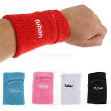 Cotton Wristband with Zipper Pocket Sport Wristband Brace Wrap Bandage Gym Strap Running Sports Safety Wrist Support