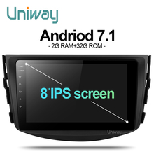 Uniway ARAV48071 car dvd for Toyota RAV4 2007 2008 2009 2010 2011 car radio stereo gps navigation with steering wheel(China)