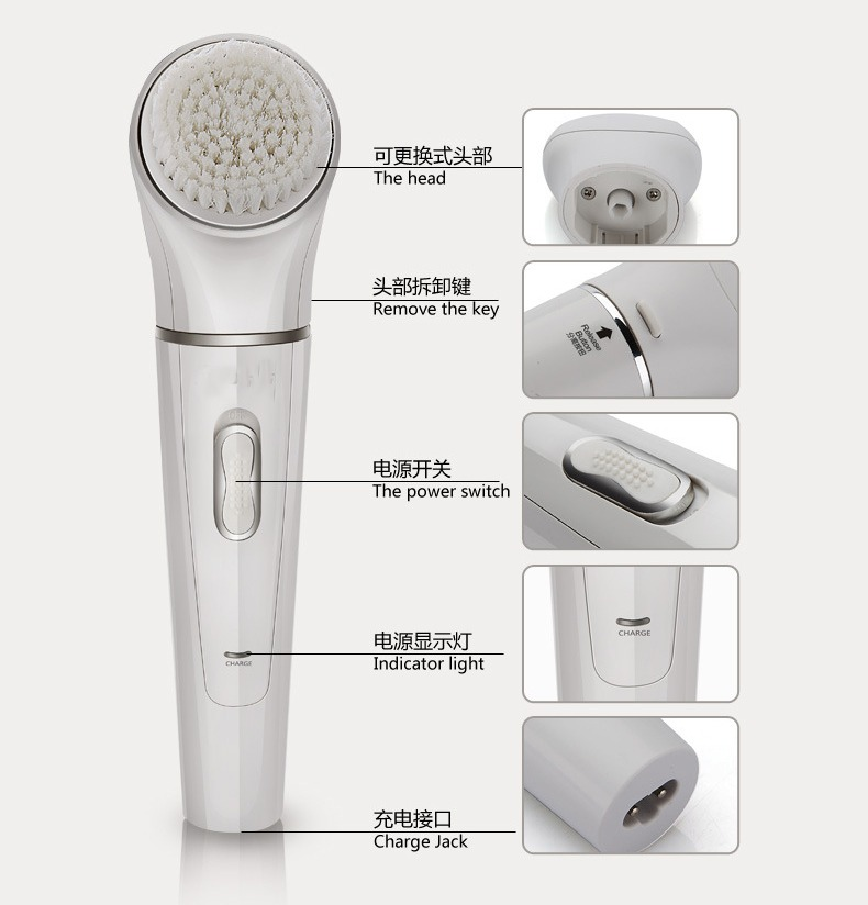 Body massage foot cutin file grinding massage Hair Shaving Removal razor face whitening Cleaser Device 5 in 1 Multi-function <br>