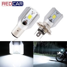 H4 H6 Led BA20D Motorcycle Headlight Bulbs COB Led 1000LM Hi Lo Lamp Scooter ATV Moto Accessories Fog Lights 6000K 12V 24V