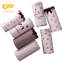 Buy Codysale 7PCS/lot Women Panties Seamless Cotton Briefs Underwear Breathable Soft Girl's Lingerie Lovely Bow Female Underpants