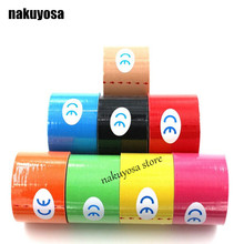 (10rolls / lot) Kinesiology tape 5cm x 5m Water Proof cotton tape Kinesio Tex Tape Athletic Sport Tape Safety Muscle Tape(China)