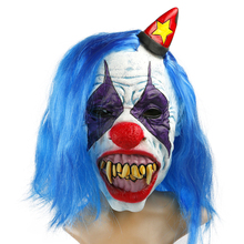 H&D NEW Halloween Psycho Killer Clown Adult Latex The Clown Mask With Blur Hair Halloween Party Fancy Cosplay