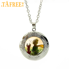 TAFREE New arrival cartoon art photo chain locket necklace latest fashion jewelry factory direct selling hot style HH067(China)