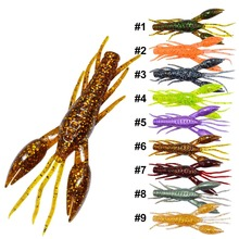 36PCS Shrimp Lure 80mm 5.5g Bionic Claw Shrimp Fishing Lure Fishing Worms Jig Wobbler Swivel Bait Practical Fishing Lures(China)