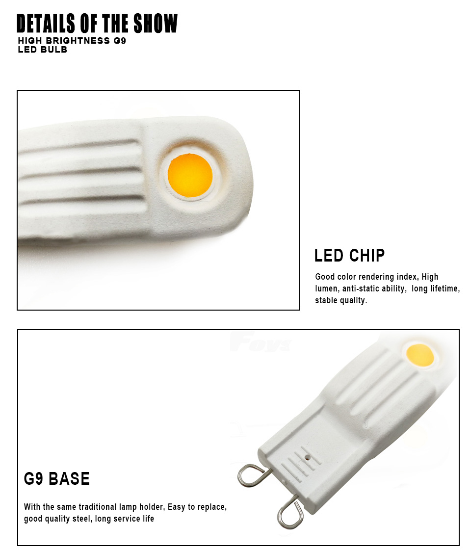 Detail Feedback Questions About 4pcs Super Bright G9 Led Lamp Ac Ultra For Ac230v Getsubject Aeproduct