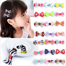 Fashion Bow Cute Hair Clip Girl Barrettes Kids Mini Pin Ribbon Hairpin hair Accessories Hair Clips Hairclip Tiara Dot Hairpins(China)