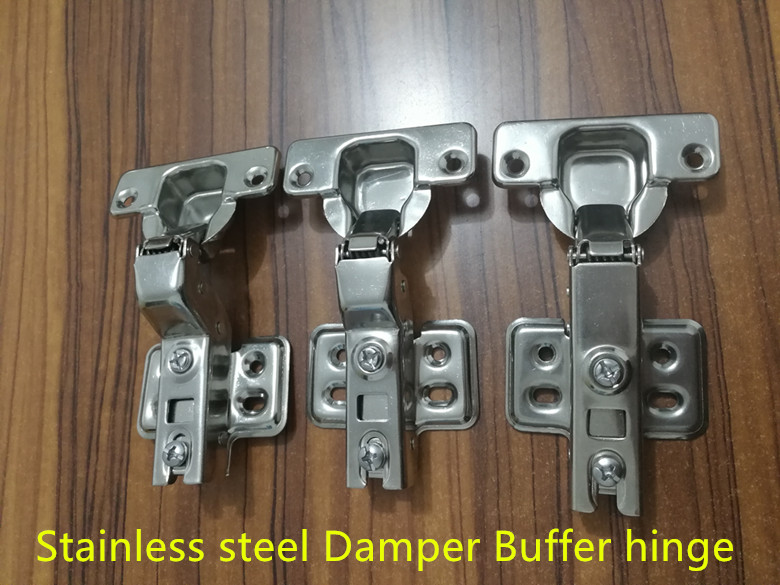 Stainless steel Hinges Hydraulic Furniture Hinges Damper Buffer Cabinet Cupboard Door Hinges Soft Close Furniture Hardware(China)