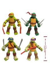 NEW Free shipping 4pcs/LOT Model toys Action & Toy Figures Turtles model Animation furnishing articles