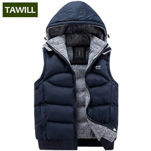 TAWILL New Mens Jacket Sleeveless veste homme Winter Fashion Casual Coats Male Hooded Men's Vest men Thickening Waistcoat 8925
