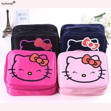 Keythemelife Women Makeup Cosmetics Bag Storage Pouch Cute Hello Kitty Pouch Storage Bag Travel Carrying Case 1D