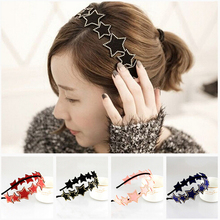 Free Shipping!2015 New Women Rivet Star Hairbands Wide Headbands Wholesale Hair Bands 5 Colors
