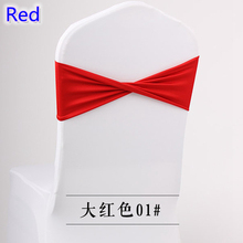spandex wedding chair sashes for chair covers Red Colour stretch to fit all chairs wedding chair decoration hotel decor cheap(China)