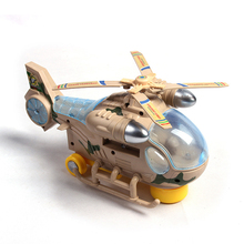 Electric Aircraft Flashing LED Light Helicopter Kids Children Music Toy