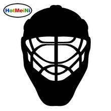Hotmeini 18x12.6 см автомобиля Интимные аксессуары спортивные Хоккей шлем винил Наклейки для автомобиля Черный/Щепка(China)