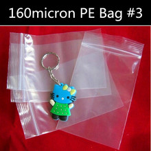 100pcs 160micron Transparent PE Plastic Bag Reclosable Gift Bag Thick Poly Resealable Ziplock Bedding/Tower/Shoes Packaging Bag