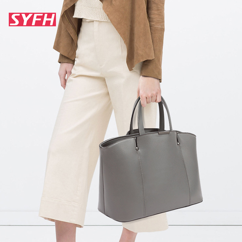 2015 Women Gray Retro Messenger Bags Famous Designers Leather Handbags Large Capacity Ladies Bags Big Shoulder Tote Bags Popular<br><br>Aliexpress