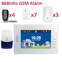 Inbuilt Siren 95db GSM security system with backup battery German Italian language menu GSM Alarm kits for flat