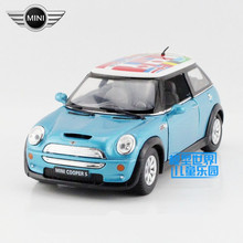 Free Shipping/1:28 Scale/Mini Cooper S (International)/Classical Educational Model/Pull back Diecast Metal toy car/Collection