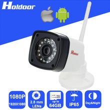 WiFi WebCam 1080P 2.8mm Lens waterproof security P2P Outdoor Camera Motion Detection Alarm Video Record Email Alert Onvif CCTV