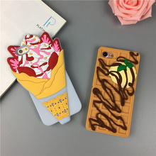 2017 new chocolate ice cream cake for iPhone 6s 7plus mobile phone case soft silicone soft shell