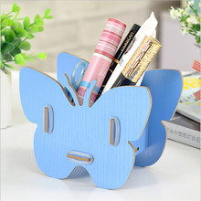 Storage Box Butterfly Makeup Organizer DIY Wood Container Jewelry Wood Trays Desktop For Storing Cosmetics Boxes Creative Design(China)