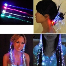 Luminous Light Up Flash LED Hair Braid Party Hairpin Decoration Flash Braid Hair Glow Light-Up Toys(China)