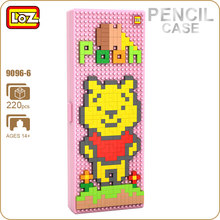 LOZ Diamond Blocks Bear Toys Brick School Pencil Case Plastic Cute Popular DIY Educational Toys For Children Gift ABS Box 9096-6(China)