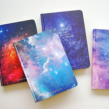 """Stars Come"" Journal Diary Lined Papers Hard Cover Any Year Planner Study Notebook Travel Notepad(China)"