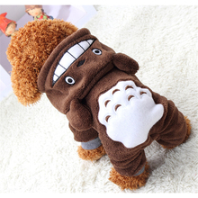New Warm Soft Fleece Pet Dog Clothes Cute Totoro Cartoon Dog Costumes 2017 Winter Clothing For Small Dogs Chihuahua Yorkshire