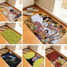 Floor Mat Cartoon One Piece Printed Rug Toilet Carpet Flannel Non Slip Absorbent Shower Bathroom Crepet Bath Mat Custom 40x60cm(China)
