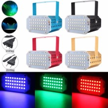 27W Strobe Flash 5050 SMD 36LED RGB Laser Projector Stage Light Mini LED Lighting Party KTV DJ Disco 90-240V Gold/Black/Red/Blue