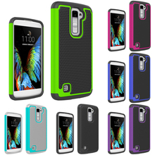 For LG K10 Case Football Pattern Rubber Case Hybrid Heavy Duty Rugged Combo Protective Case Cover For LG K10 / LG M2(China)