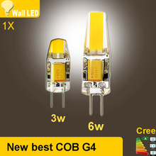 2015 new High quality AC/DC 12V G4 LED 3W 6W NEW COB Corn Light SMD bulb Super bright Replace Halogen Lamp Led Light