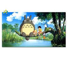 YWDECPR HD Print Hayao Miyazaki Animation Ghibli Totoro on Canvas Wall Painting Modern Cartoon Wall Picture For Kids Room Decor(China)