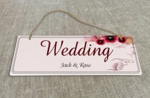 Personalized Outdoor Wedding Reception & Ceremony Decoration Directional Signs wedding sign board Red flower SB007H