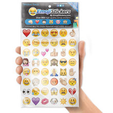 Mini 48 Die Cut Emoji Smile Face Sticker Pack Notebook Laptop Decor Stickers kids cute classic toy